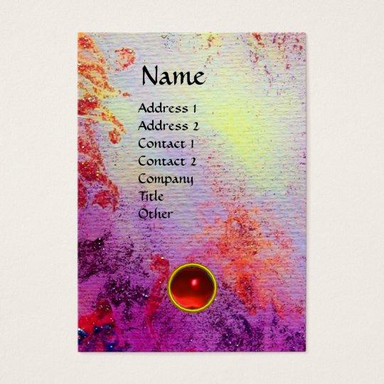 ABSTRACT GOLD SWIRLS MONOGRAM GEM BUSINESS CARD