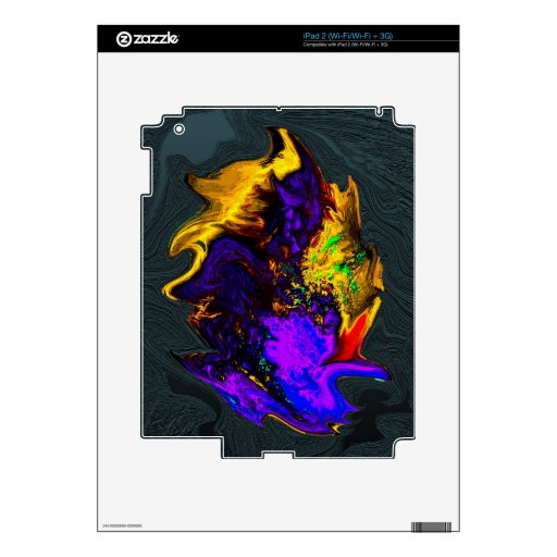 Abstract Gold Textured Decal For The iPad 2