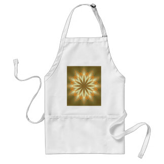 Abstract golden and silver flower for Christmas Adult Apron