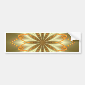 Abstract golden and silver flower for Christmas Bumper Sticker