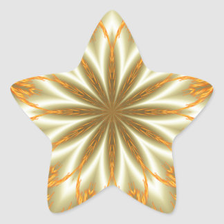 Abstract golden and silver flower for Christmas Star Sticker