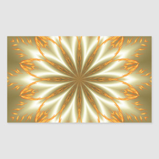 Abstract golden and silver flower for Christmas Rectangular Sticker