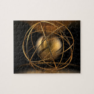 Abstract Golden Cage Jigsaw Puzzle