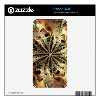 Abstract golden flower like a snowflake iPhone 4S skin