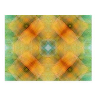 Abstract Golden Flower Postcard