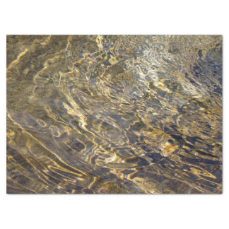 Abstract Golden Fountain Water 2 Tissue Paper