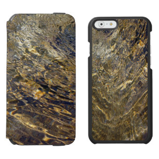 Abstract Golden Fountain Water iPhone 6/6s Wallet Case