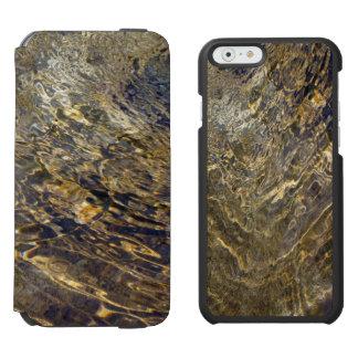 Abstract Golden Fountain Water Incipio Watson™ iPhone 6 Wallet Case