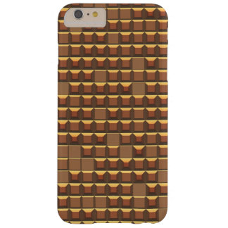 Abstract golden frustum (topless pyramid) pattern barely there iPhone 6 plus case