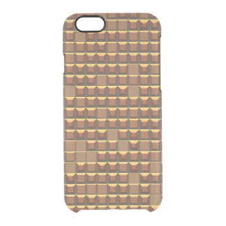 Abstract golden frustum (topless pyramid) pattern clear iPhone 6/6S case