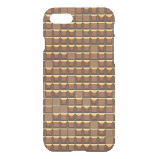 Abstract golden frustum (topless pyramid) pattern iPhone 7 case