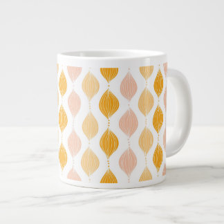 Abstract golden ogee pattern background giant coffee mug