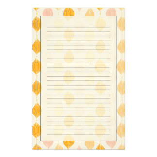 Abstract golden ogee pattern background stationery
