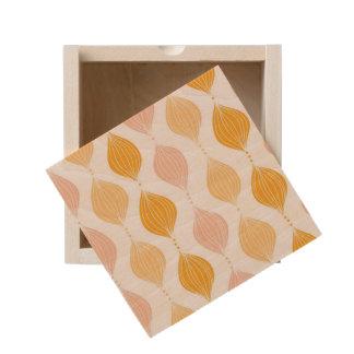 Abstract golden ogee pattern background wooden keepsake box