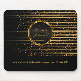 Abstract Golden Star Light Design Mouse Pad