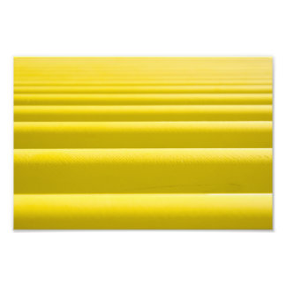 Abstract Golden Yellow Horizontal Stripe Bars Photo Print
