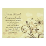 Abstract Golds and Brown Post Wedding Celebration Personalized Invitations