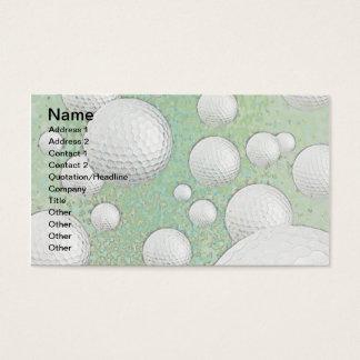 ABSTRACT GOLF BALLS BUSINESS CARD