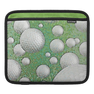 ABSTRACT GOLF BALLS iPad SLEEVE