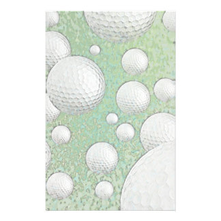 ABSTRACT GOLF BALLS STATIONERY