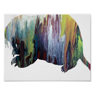 Abstract Gopher silhouette Poster