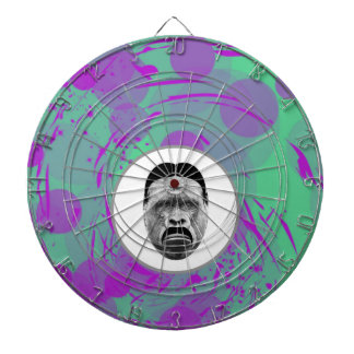 Abstract Gorilla Metal Cage Dartboard