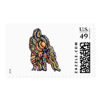 Abstract Gorilla Stamp