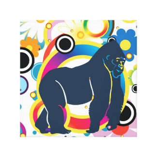 Abstract Gorilla Wrapped Canvas