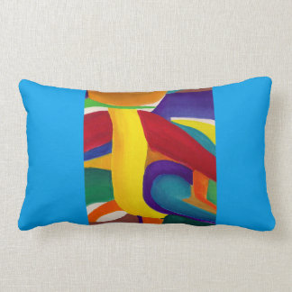 Abstract Gouache Pillow by Alicia L. McDaniel