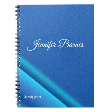 Professional Business Abstract gradient blue texture notebook