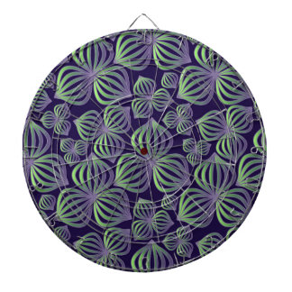 Abstract gradient purple green floral pattern. dart boards