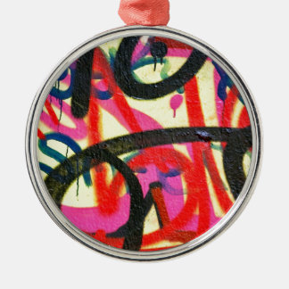 abstract graffiti background metal ornament