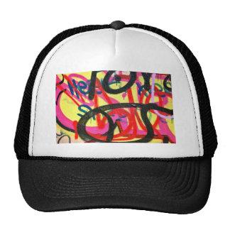 abstract graffiti background trucker hat