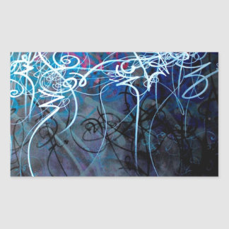 Abstract Graffiti Calligraphy jpg Rectangle Stickers
