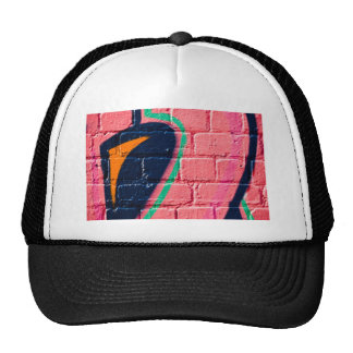 Abstract Graffiti detail on the textured wall Mesh Hat