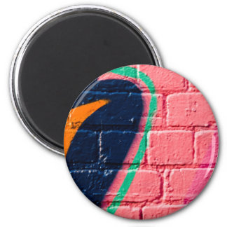 Abstract Graffiti detail on the textured wall Refrigerator Magnets