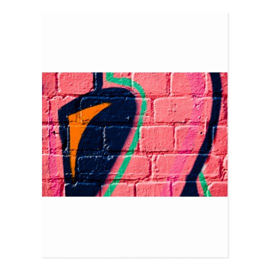 Abstract Graffiti detail on the textured wall Postcard