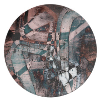 Abstract graffiti melamine plate