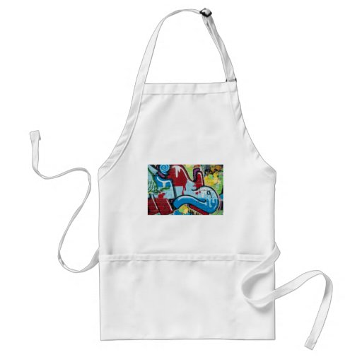 Abstract Graffiti on the textured Brick Wall Adult Apron