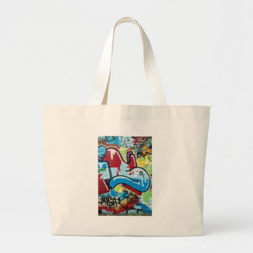 Abstract Graffiti on the Textured Brick Wall Bags