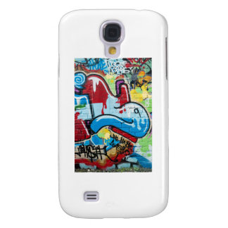 Abstract Graffiti on the Textured Brick Wall Galaxy S4 Cases