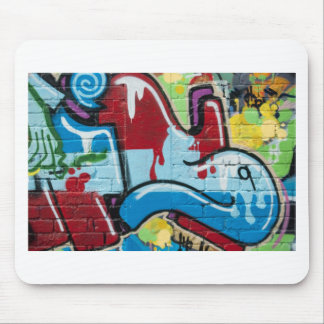 Abstract Graffiti on the textured Brick Wall Mouse Pads