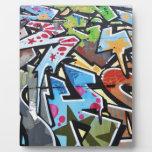 Abstract graffiti plaque