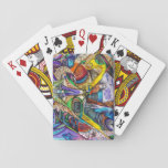 Abstract Graffiti Playing Cards