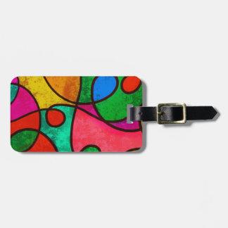 Abstract Graffiti Rainbow Swirls Bag Tag