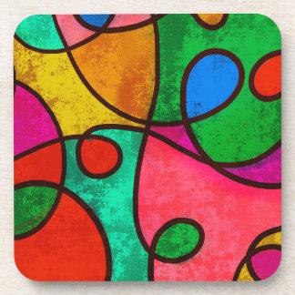 Abstract Graffiti Rainbow Swirls Drink Coaster