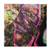 Abstract Graffiti Sea Sediment Agate Macro Tile