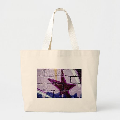 Abstract Graffiti Star on the textured wall Canvas Bags
