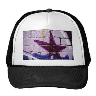 Abstract Graffiti Star on the textured wall Trucker Hats