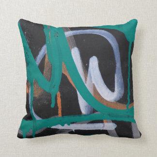 Abstract Graffiti Street Art Accent Throw Pillow